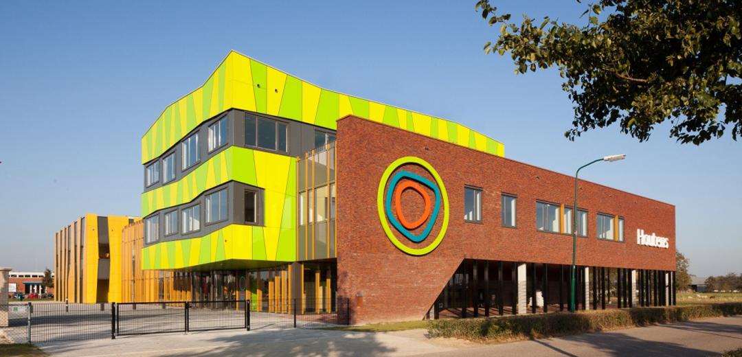 Het houtens houten m t - Eigentijds gebouw ...